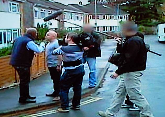 Photo taken from the Channel 5 programme called Cowboy Builders with  Dominic Littlewood