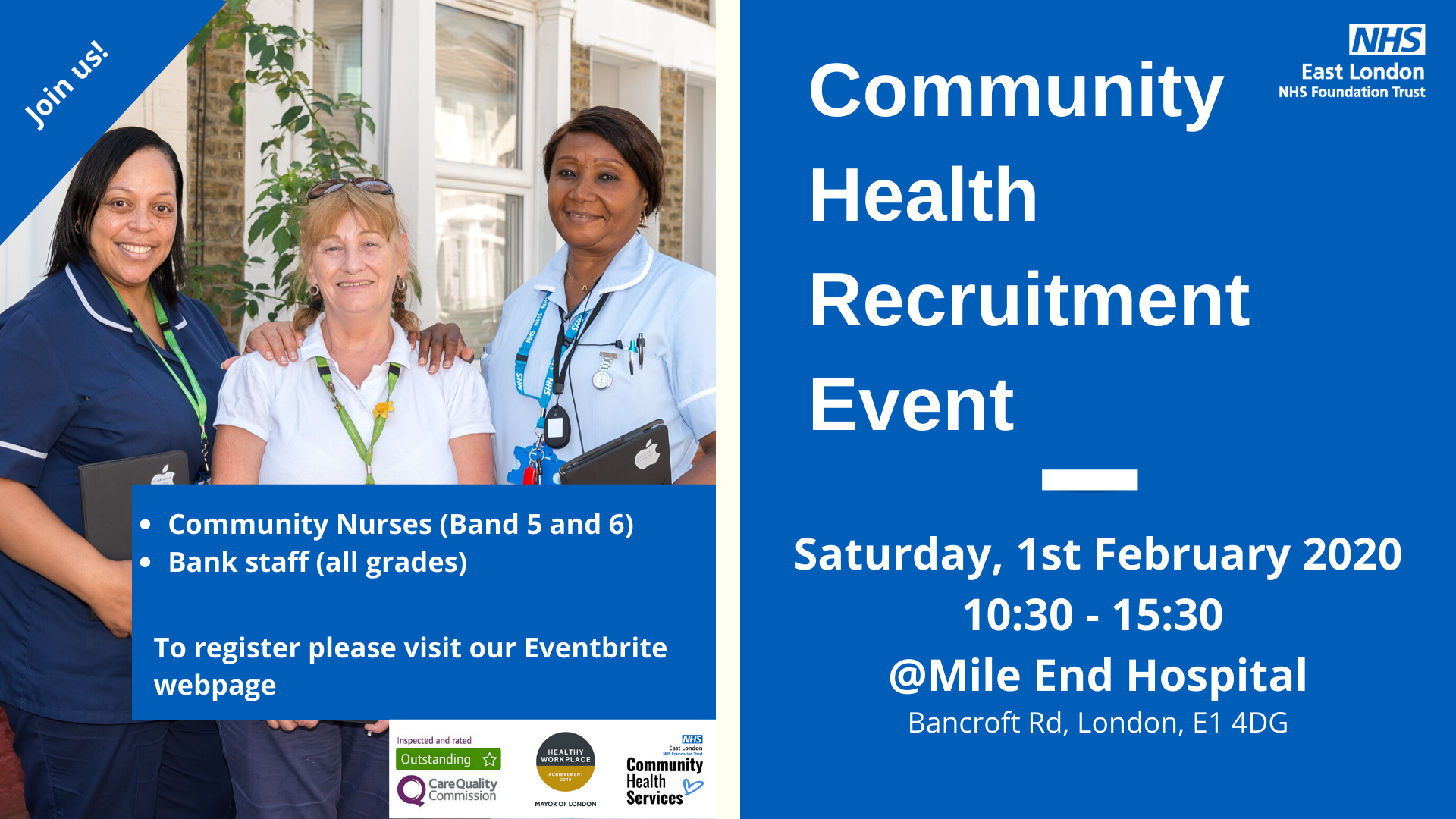Community Health Recruitment Event
